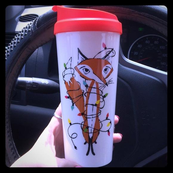 kate spade Other - ADORABLE ♠️KATE SPADE♠️ FOX HOLIDAY TRAVEL MUG